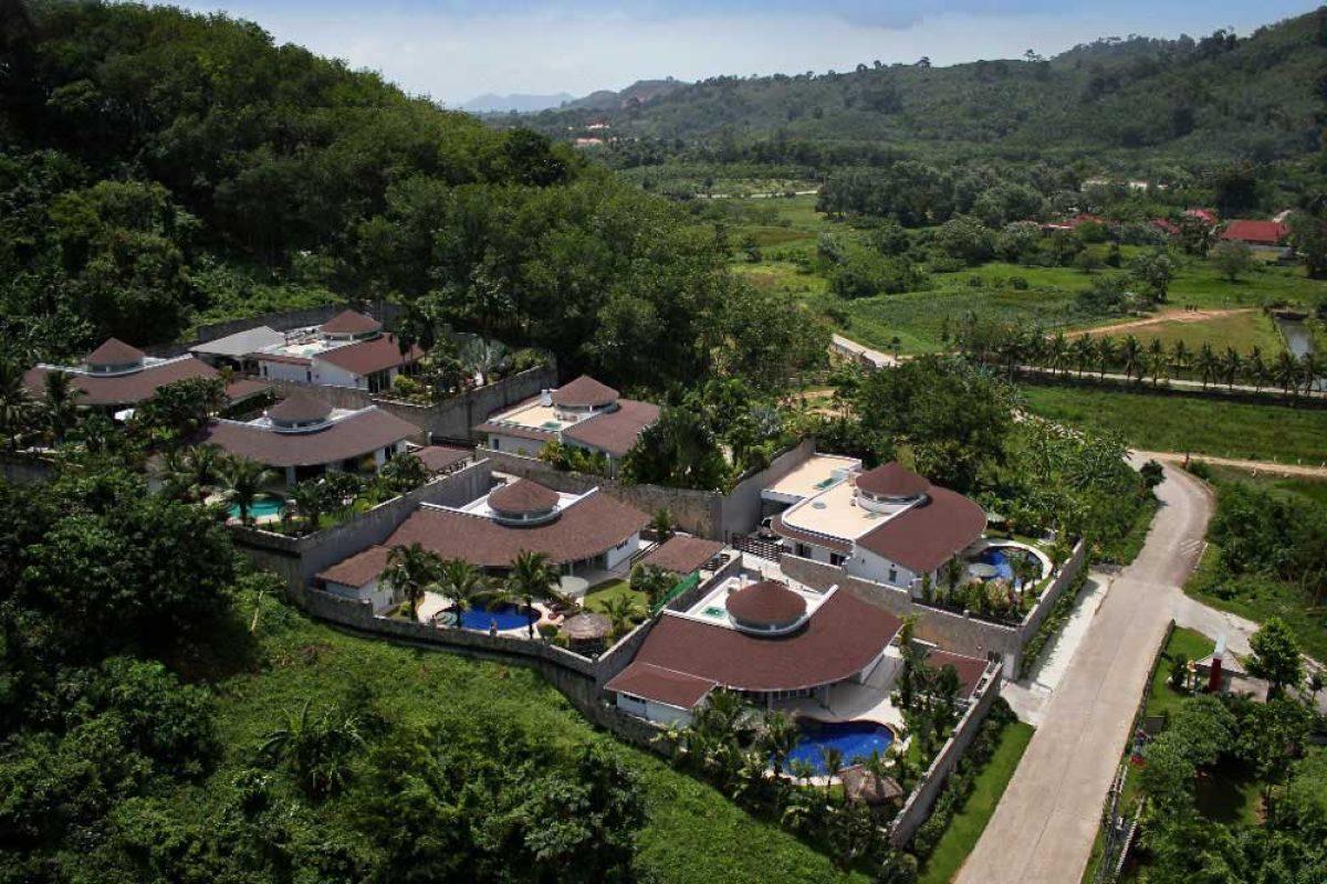 Aerial View of Bismarcks Luxury Villa Estate