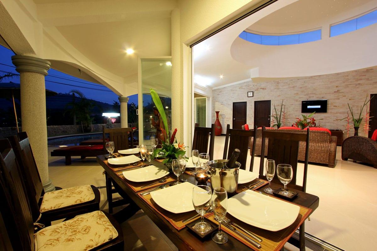 Dining Area Villa Eden
