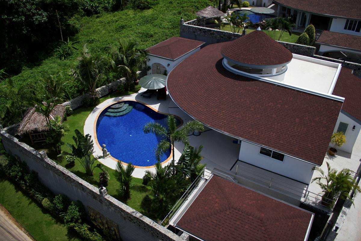 Aerial View Villa Lotus