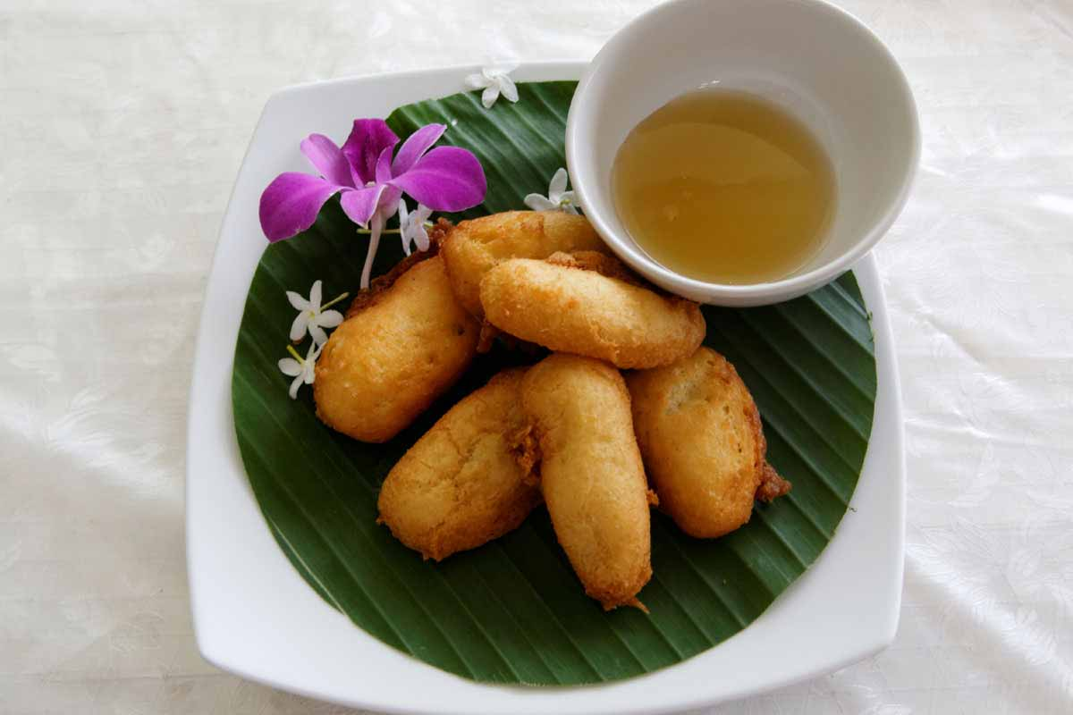 Deep Fried Banana with Honey