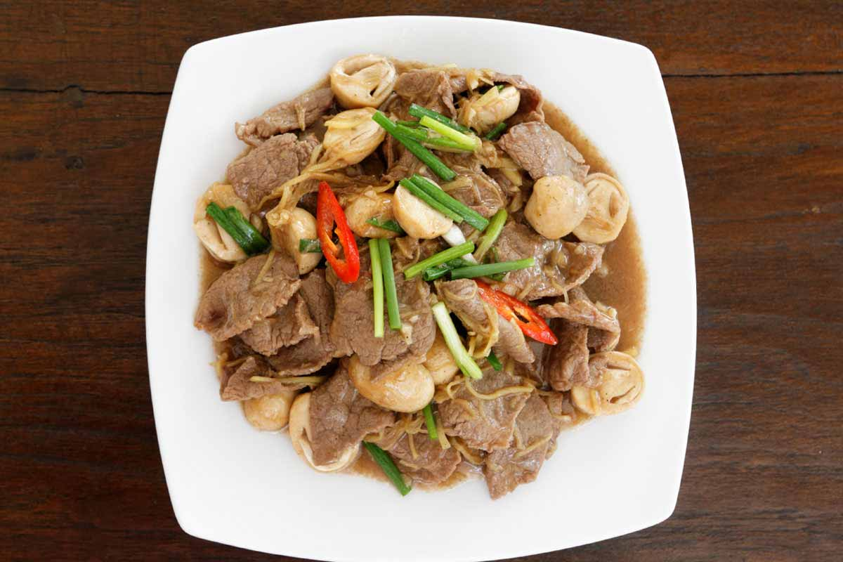 Fried Beef with Ginger