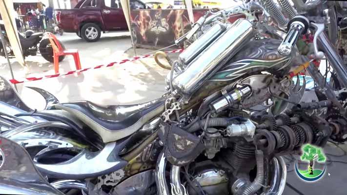 View of a motorbike at the Bike Week Patong Phuket
