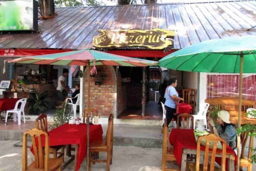 Lee's Pizzeria and Thai food restaurant, Nai Yang, Phuket, Thailand