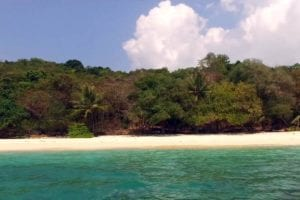 View of sandy beach on Koh Bon Island, near Phuket