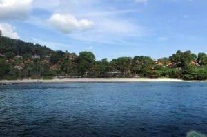 Trisara Beach Phuket in front of the Trisara Resort