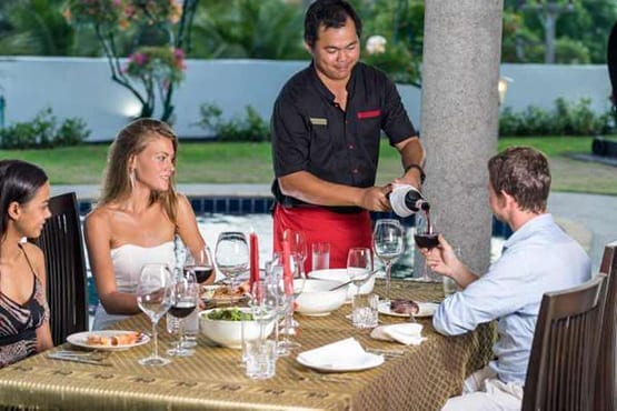 In Villa Dining Ladies Dining Group Phuket Thailand