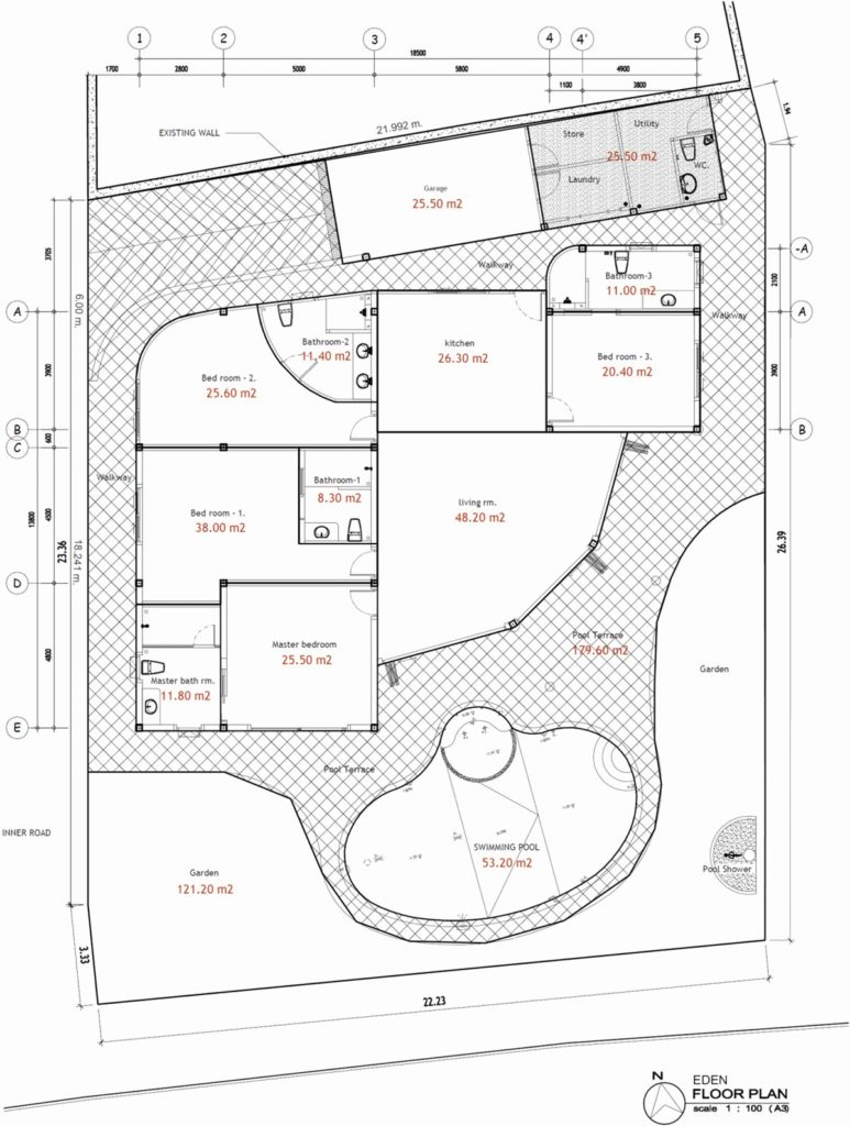 Floor-plan Villa Eden