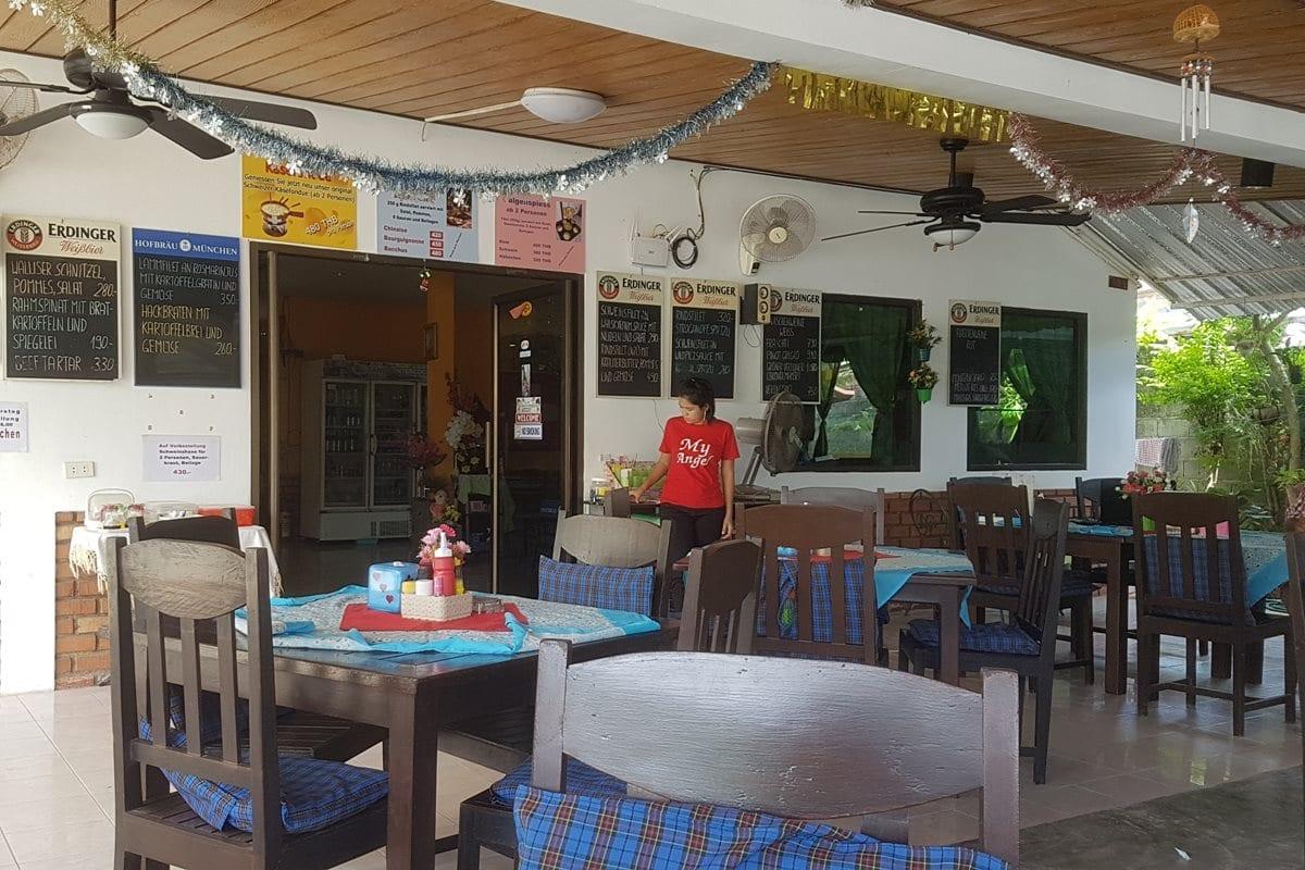 Outside area of My Angel Restaurant Rawai